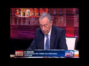 Marcelo Rebelo de Sousa fala sobre a visita do Mensageiro de Bragança ao Papa em direto na TVI